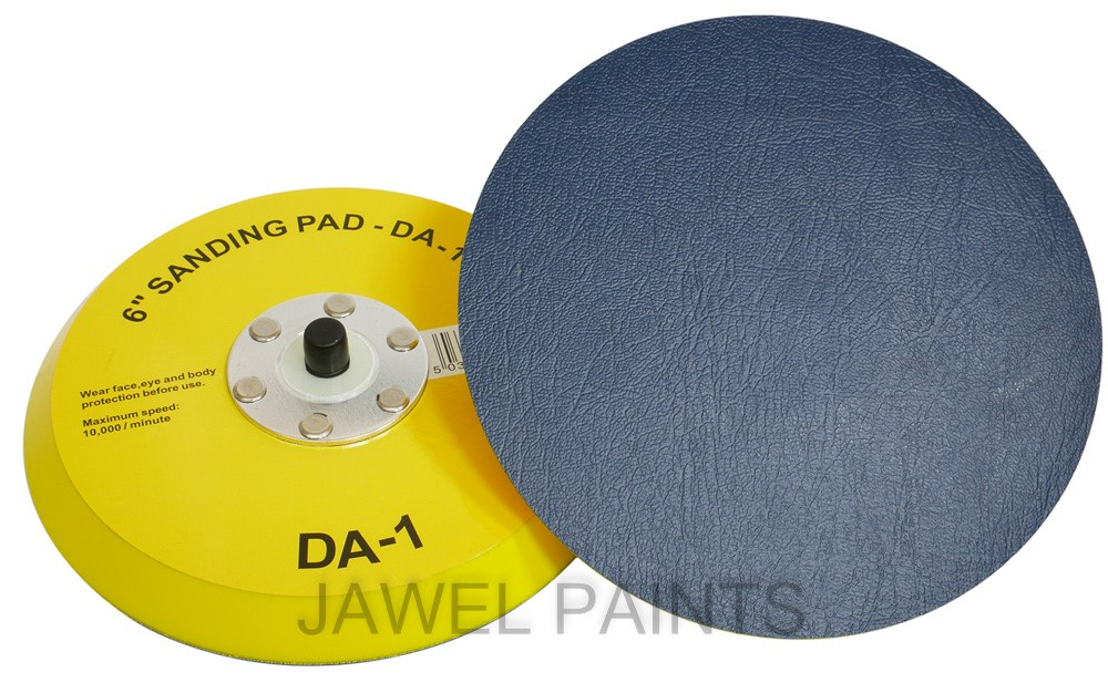 "Self Stick Backing Pad 6"" No Holes"